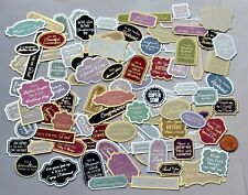 Job Lot Hunkydory 40 Foiled Sentiments Male Female Mix Card & Scrapbook Toppers