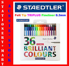 STAEDTLER◉#334 36 x ASSORTED◉TRIPLUS FINELINER PEN◉0.3mm FELT TIP◉ART◉GIFT PACK◉