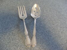 Oneida Community Stainless Chatelaine USA Flatware Serving Spoon and Fork