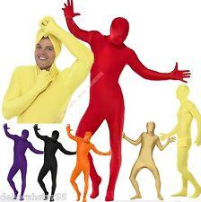 Mens Adult Second Skin Zentai Lycra Bodysuit Fancy Dress Costume  Colours M L XL