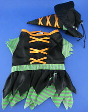 Pet New York Dog 2 Piece Halloween Witch Costume Hat Size Small