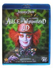 Alice in Wonderland 3D Blu-ray Disc - Disney Johnny Depp Tim Burton