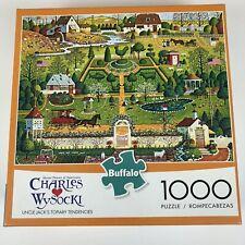 Charles Wysocki 1000 Piece Jigsaw Puzzle Uncle Jack's Topiary Tendencies