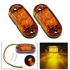 2x Amber LED Side Marker Light Piranha Clearance Light for Car Truck Trailer