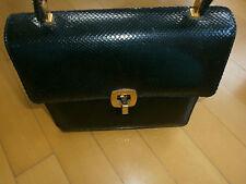 alte Vintage Damen Leder Handtasche schwarz