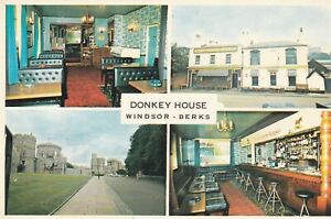 Windsor. Donkey House. Vintage multi-view postcard in fair condition. Unused