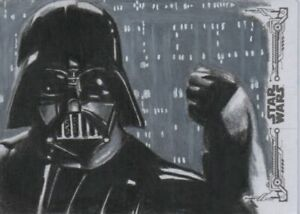 Topps Star Wars Black & White: ESB Artist Proof DARTH VADER by Brent Ragland WOW