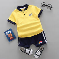 Summer Kids Baby Boys Clothes Suits Children Boy T-shirt + Pants Outfits Sets