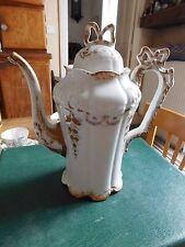 Raynaud & Cie cafetière  porcelaine de Limoges décor noeuds fleur
