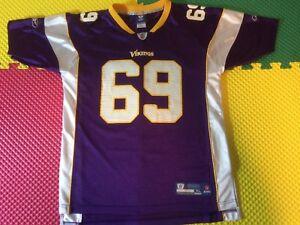 Jared Allen Minnesota Vikings #69 Reebok Purple Jersey Youth Size XL 18-20