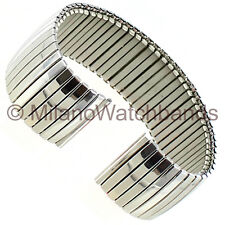 19mm Hirsch Twist-O-Flex Stainless Steel Silver Tone Mens Watch Band 883 BOGO!