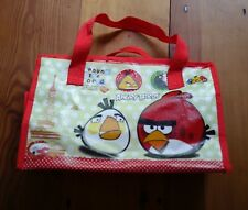 ANGRY BIRDS 'Around The World' Durable Plastic Zip Tote Toiletries Purse Bag
