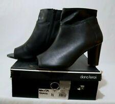 Diana Ferrari Size AU 11 Women's Leather Open Toe Comfy Foot Bed Mules Orig