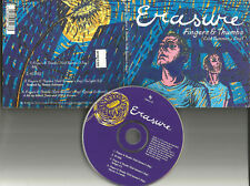 ERASURE Fingers & thumbs EDIT & UNRELEASED & 2 MIXES Europe CD single USA seller