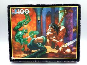 Puzzle Conan L Adventurer MB 100 Pièces Full/Complete Vintage Milton Bradley
