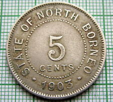 BRITISH NORTH BORNEO 1903 H 5 CENTS