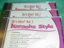 He's Alive! ~ #1, 2 & 3 ~ Christian~Daywind~Karaoke Style ~ Mercy Said No ~ CD+G
