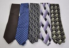 Lot of 5 Men's Neck Classic Ties Multi Colored Wear To Work All 100% Silk 2