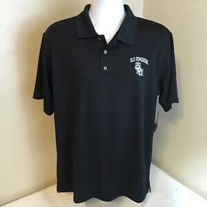 NCAA by Ka Mens Polo Shirt Black Medium Old Dominion University Monarchs Logo