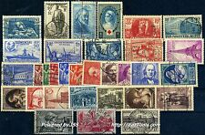 FRANCE ANNEE COMPLETE 1939 OBLITEREE COTE 147€
