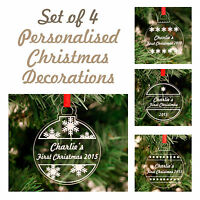 Personalised Christmas Acrylic Bauble Decorations