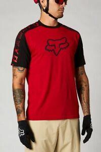 Fox Ranger DR SS Jersey Kurzarm Trikot Shirt Combo MTB MX Rot Schwarz *NEU*