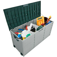 "79 Gallon 44"" Deck Storage Box Outdoor Patio Garage Shed Tool Bench Container"