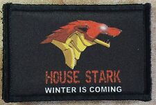 Iron Man House of Stark Game of Thrones Morale Patch Tactical Military USA Hook