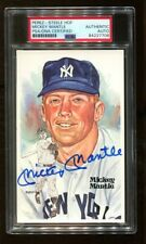 Mickey Mantle Signed Perez-Steele HOF Postcard Autographed Yankees PSA/DNA *7706