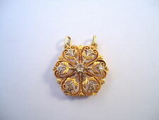 BEAU PENDENTIF ANCIEN EN OR 18K DIAMANTS EN ROSE DE PROVENCE or 18 carats