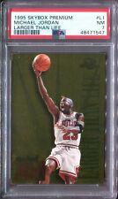 PSA 7 1995-96 SkyBox Premium Larger Than Life #L1 Michael Jordan Chicago Bulls