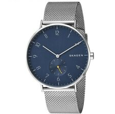 Skagen Aaren 40mm Blue Dial Steel Mesh Unisex Watch SKW6468 NEW BOXED