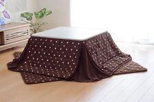 Kotatsu FUTON & MAT SET for Foot Warmer conserve space type Brown
