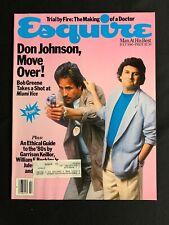 Esquire Magazine July 1986 - Don Johnson! Garrison Keillor