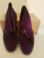 Clarks Purple Desert Boots Uk Size 6 C vgc condition