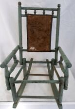 Authentic Victorian Era childs rocking chair in the Eastlake pattern