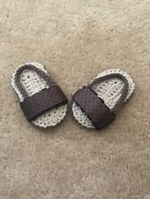 Checkered Baby Shoes Sandals  Slippers Crochet Summer Newborn Infant Preemie