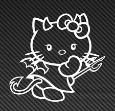 Hello Kitty Angel Devil Vinyl Sticker Decal Laptop Smile Cute Bow Sanrio Girl