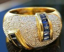 Fashion Blue Sapphire 18k yellow gold ring/band