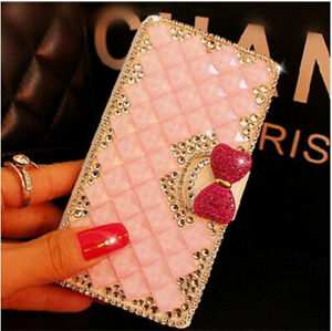 Phone Case for Motorola , Bling Crystal Diamonds leather Flip Stand Wallet Cover