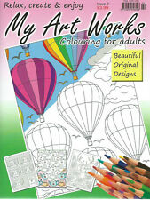 RELAX WITH ART WORKS COLOURING BOOK FOR ADULTS ISSUE 2 THERAPEUTIC-CREATIVE NEW