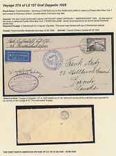 Lz127 Zeppelin On Flight Cover Germany To Toronto, Canada Bs2844