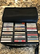 30 Cassette Tapes With Carry Case