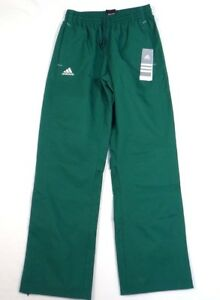 Adidas Signature Green Mesh Lined Wind Track Pants Women's NWT