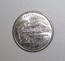 2007 US State Quarter, 25 cents, Washington, Salmon fish, animal wildlife coin