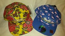 Ladies floral/ flamingo  Hats ... Snapback.. City Hunters , LOT OF 2 NWT  🌸🌻🍀