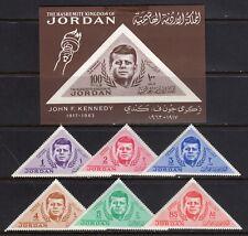JORDAN STAMPS #457-462,462a — KENNEDY SET + S/s 1964 MINT