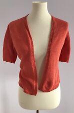 Nic + Zoe Women's Orange Summer Cardigan Sweater Size M