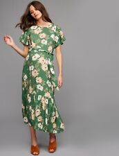 NWT Rachel Pally Maternity Crepe Reiss Maxi Dress Zinnia Green Size XL