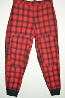 vtg 50s WOOLRICH RED BLACK WOOL HUNTING CHECKED BUFFALO PLAID PANTS 36 X 31